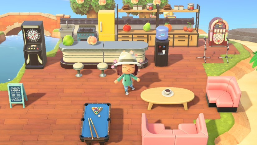 A restaurant in Animal Crossing: New Horizons on the Nintendo Switch
