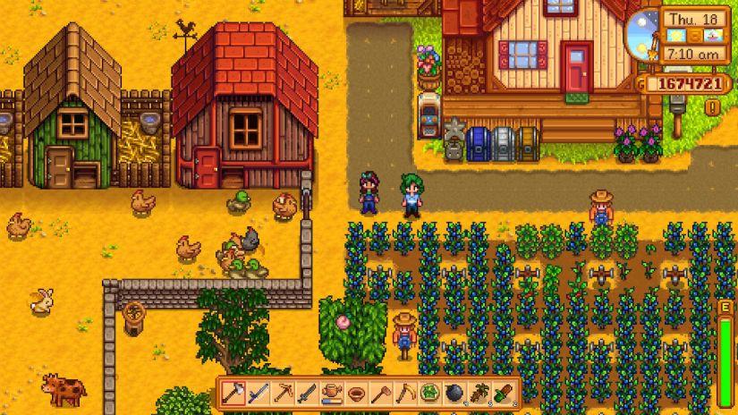 Co-op farm in Stardew Valley on the Nintendo Switch