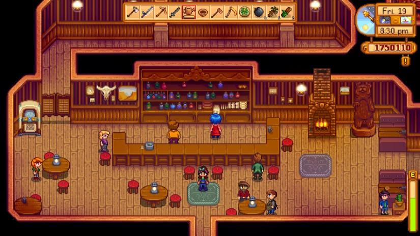 The Stardrop Saloon in Stardew Valley